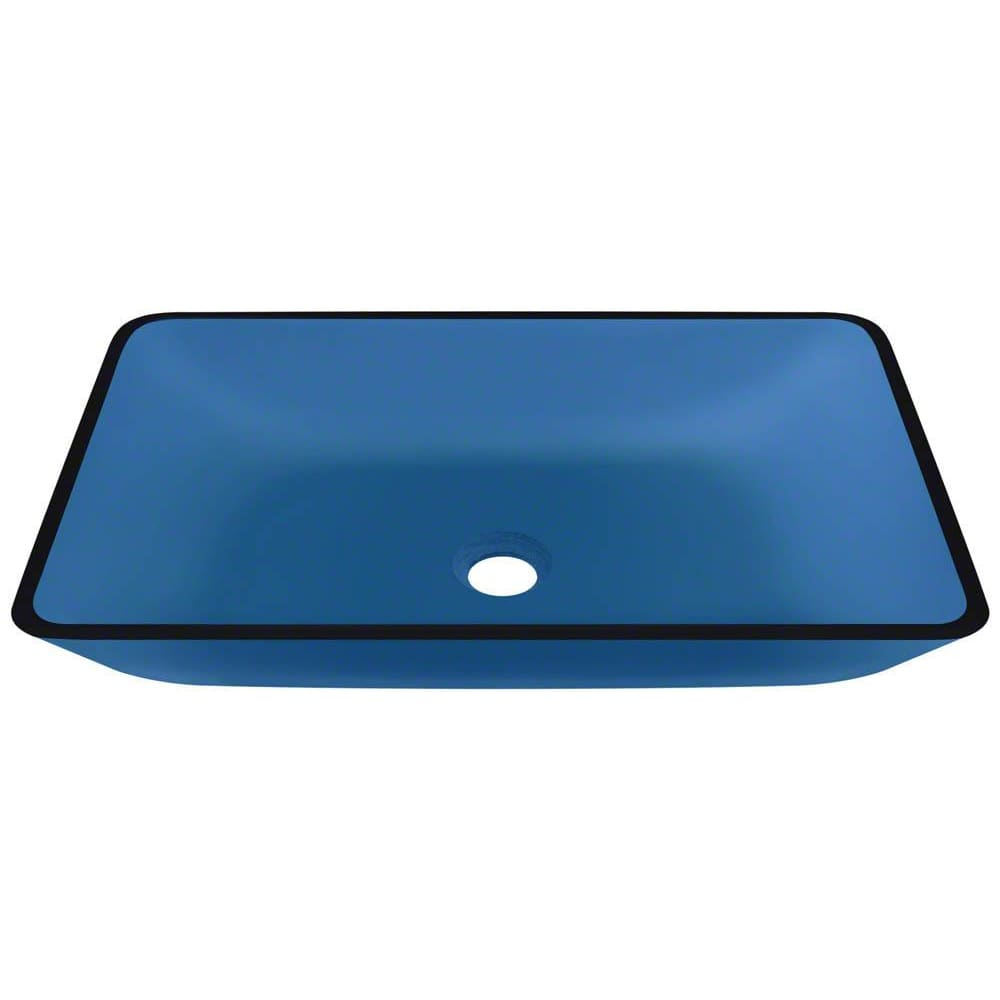 Bathroom Sink Polaris P046A Colored Glass Vessel Fully
