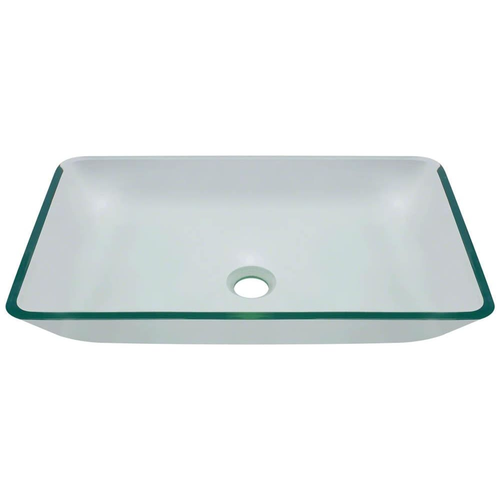Bathroom Sink Polaris P046CR Glass Vessel Fully Tempered