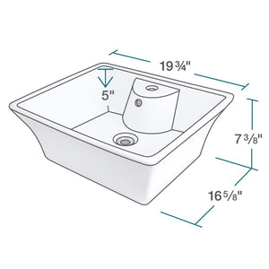 Bathroom Sink Polaris P051VW Porcelain Vessel Vitreous China