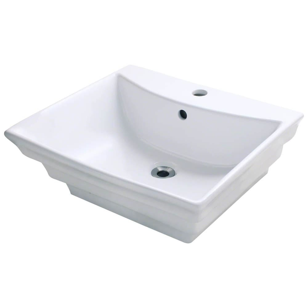 Bathroom Sink Polaris P061VW Porcelain Vessel Vitreous China