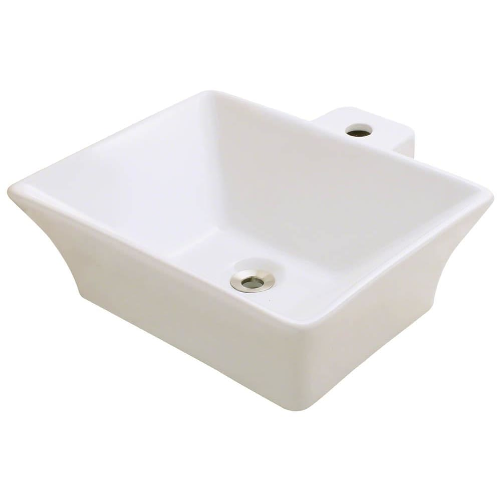 Bathroom Sink Polaris P092VB Vessel Porcelain Vitreous China