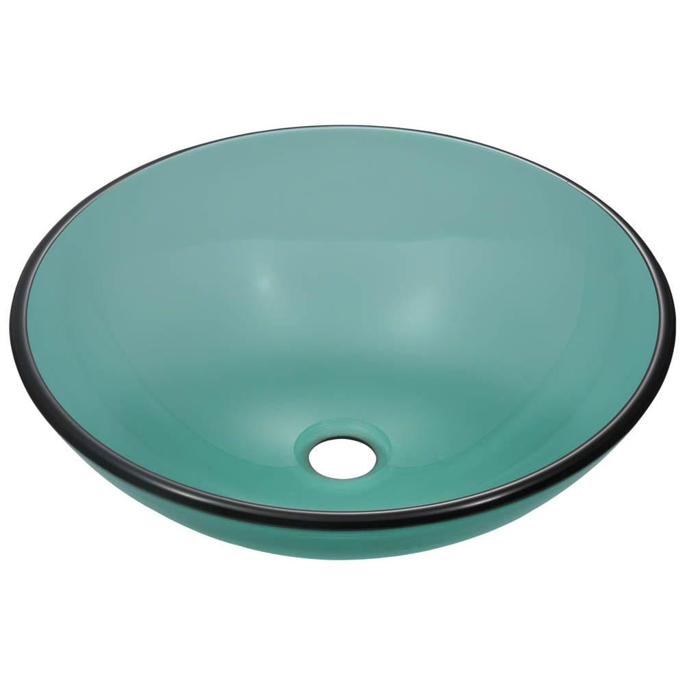 Bathroom Sink Polaris P106E Colored Glass Vessel Fully