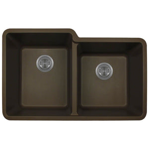 Kitchen Sink Polaris P108M Double Offset Bowl AstraGranite