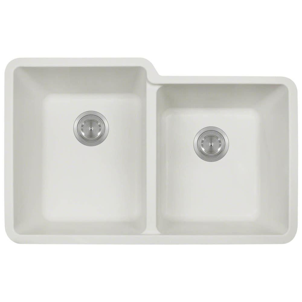 Kitchen Sink Polaris P108W Double Offset Bowl AstraGranite