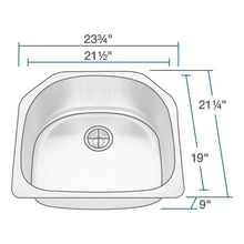 Kitchen Sink Polaris P1242-16 D-Bowl Stainless Steel Brushed