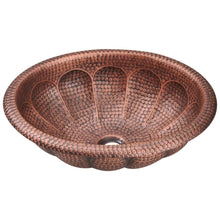 Load image into Gallery viewer, Bathroom Sink Polaris P129 Single Bowl Oval Copper 99.9%