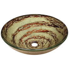 Load image into Gallery viewer, Bathroom Sink Polaris P136 Foil Undertone Glass Vessel Fully