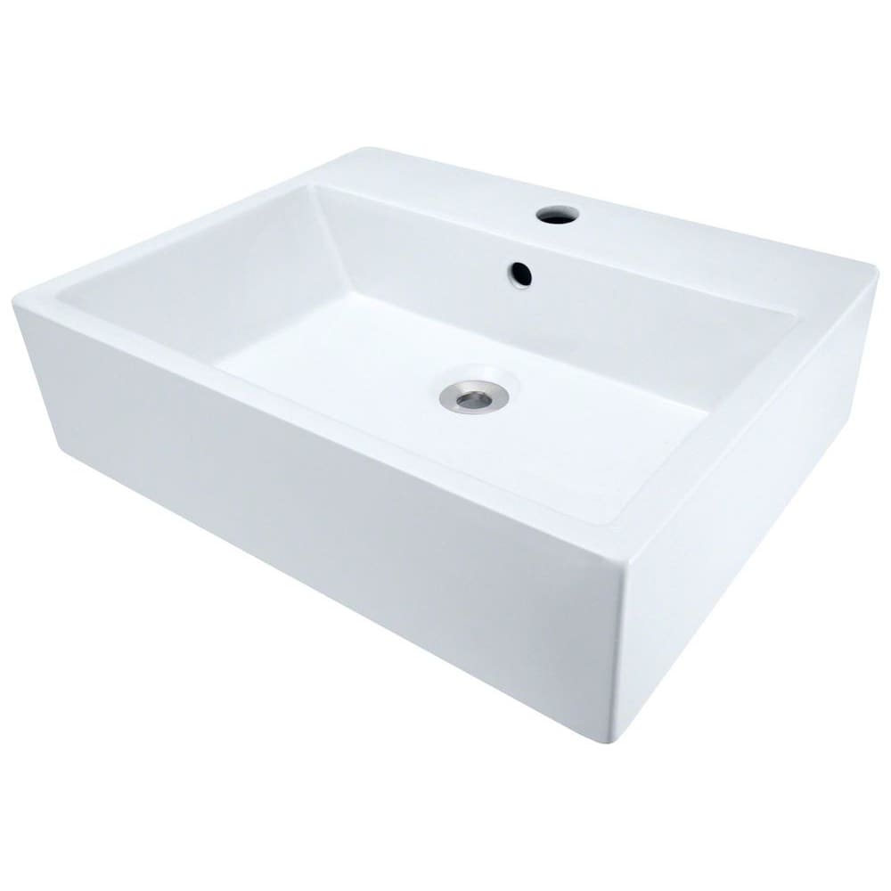 Bathroom Sink Polaris P2052VW Porcelain Vessel Vitreous