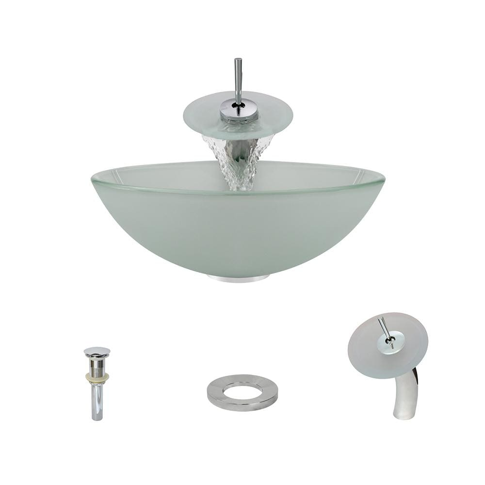 Bathroom Sink Polaris P206-C Waterfall Faucet Ensemble Fully