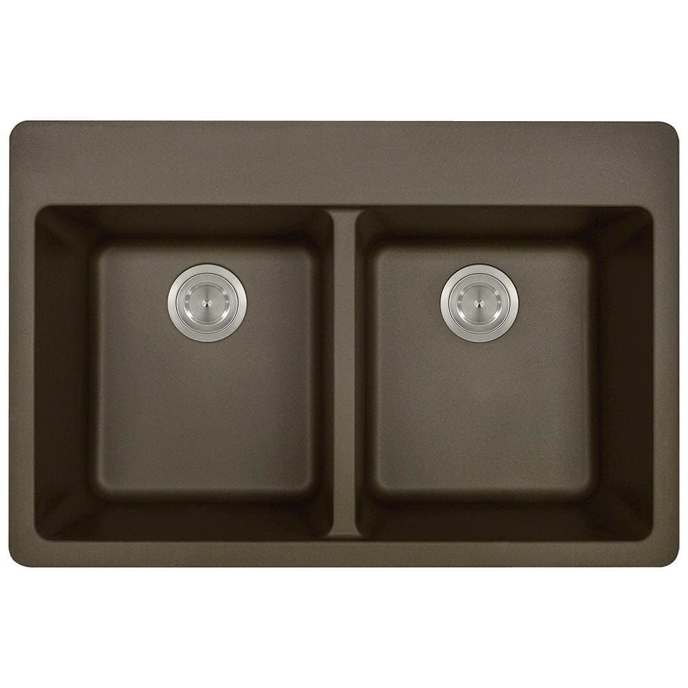 Kitchen Sink Polaris P208TM Double Equal Bowl Topmount
