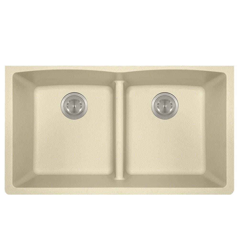 Kitchen Sink Polaris P218BE Double Equal Bowl Low-Divide