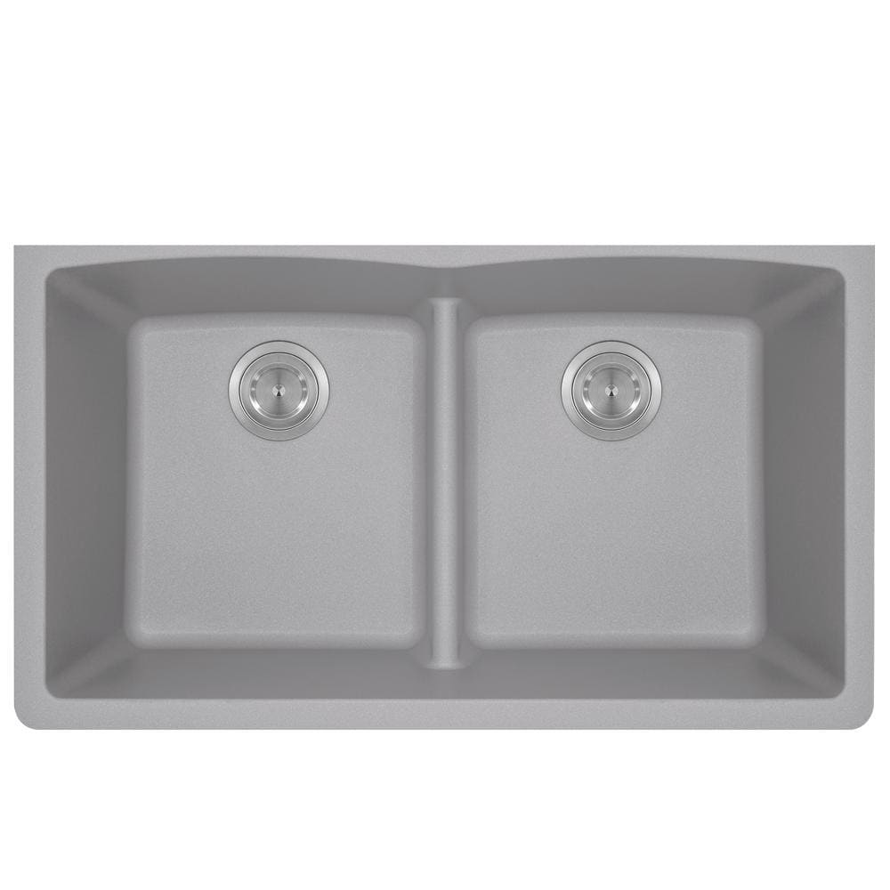 Kitchen Sink Polaris P218S Double Equal Bowl Low-Divide
