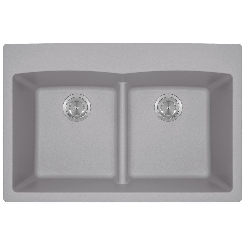 Kitchen Sink Polaris P218TS Double Equal Bowl Low-Divide
