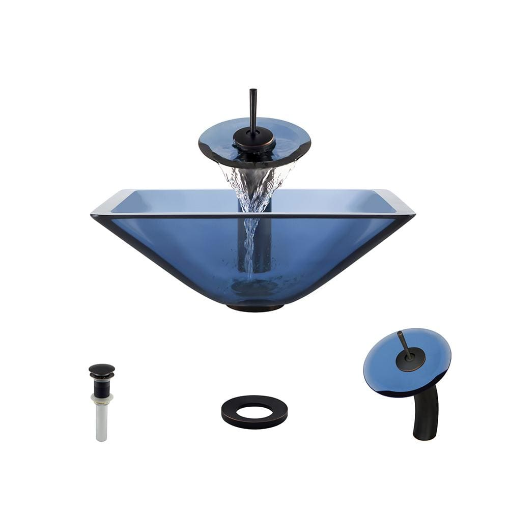 Bathroom Sink Polaris P306-AQ-ABR P306 Aqua-ABR Waterfall