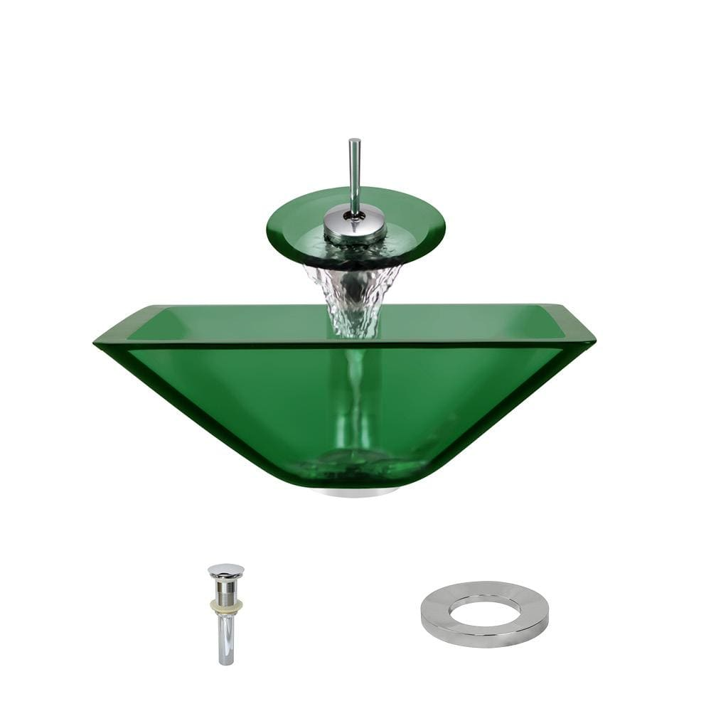 Bathroom Sink Polaris P306-E-C P306 Emerald-C Waterfall