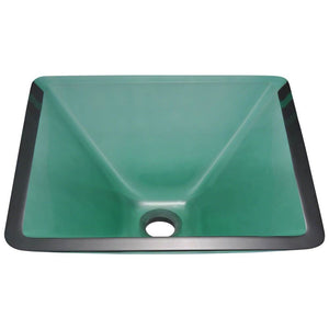 Bathroom Sink Polaris P306E Colored Glass Vessel Fully