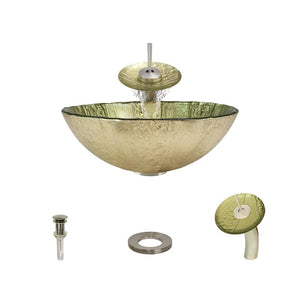 Bathroom Sink Polaris P326-BN Waterfall Faucet Ensemble