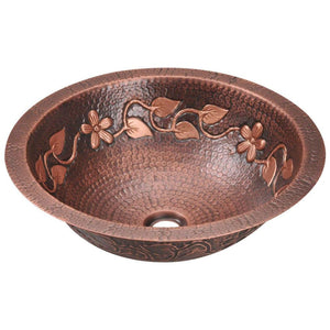 Bathroom Sink Polaris P329 Single Bowl Copper 99.9% Pure