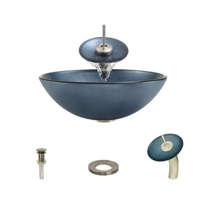 Bathroom Sink Polaris P336-BN Waterfall Faucet Ensemble