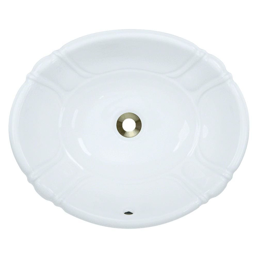 Bathroom Sink Polaris P5181OW Vessel / Drop-In Porcelain