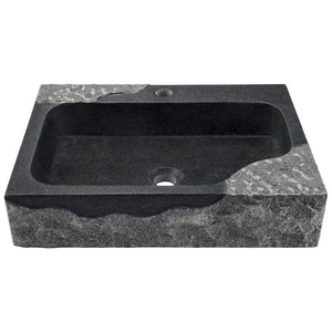 Bathroom Sink Polaris P568 Impala Black Granite Vessel
