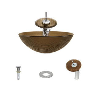 Bathroom Sink Polaris P626-C Waterfall Faucet Ensemble Fully