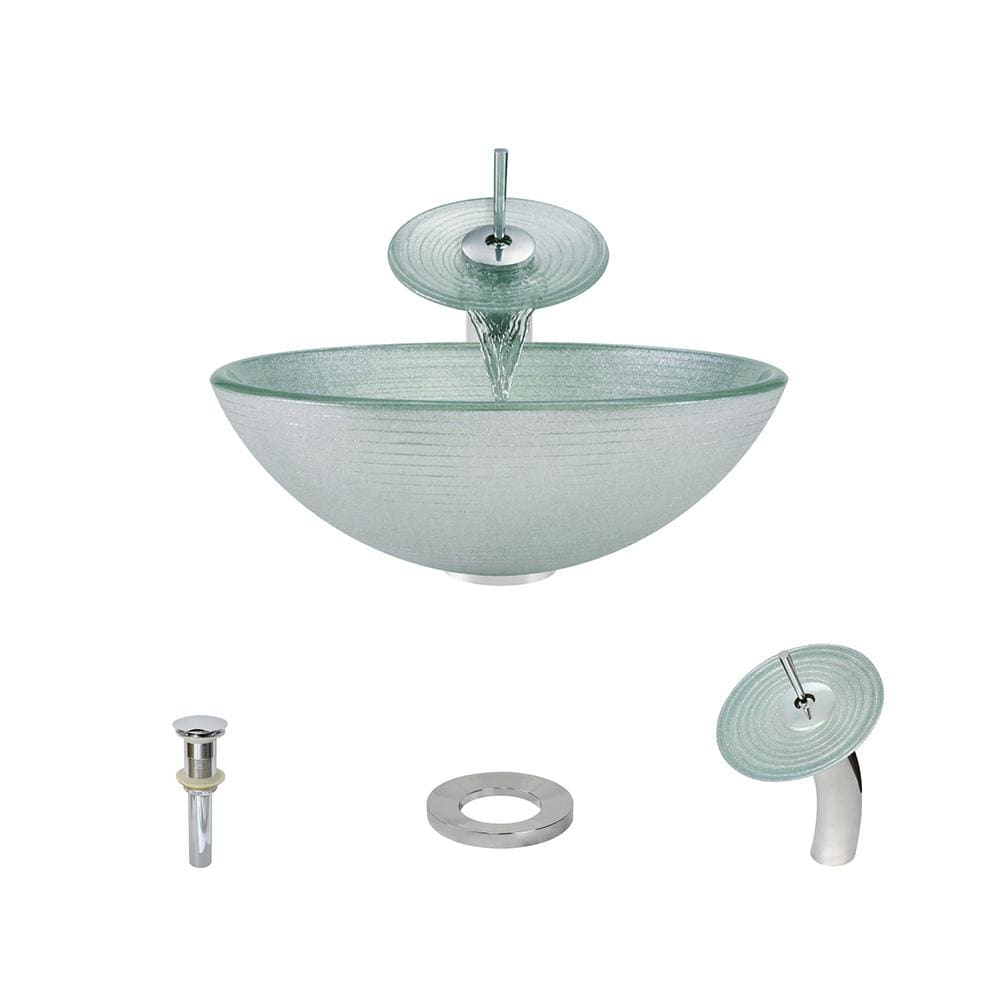 Bathroom Sink Polaris P636-C Waterfall Faucet Ensemble Fully