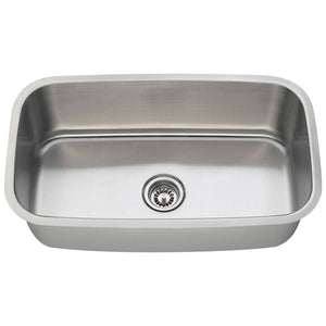 Kitchen Sink Polaris P813-18 Stainless Steel Brushed Satin