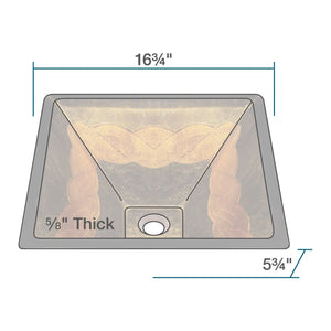 P836 Polaris Foil Undertone Glass Vessel Sink Fully Tempered