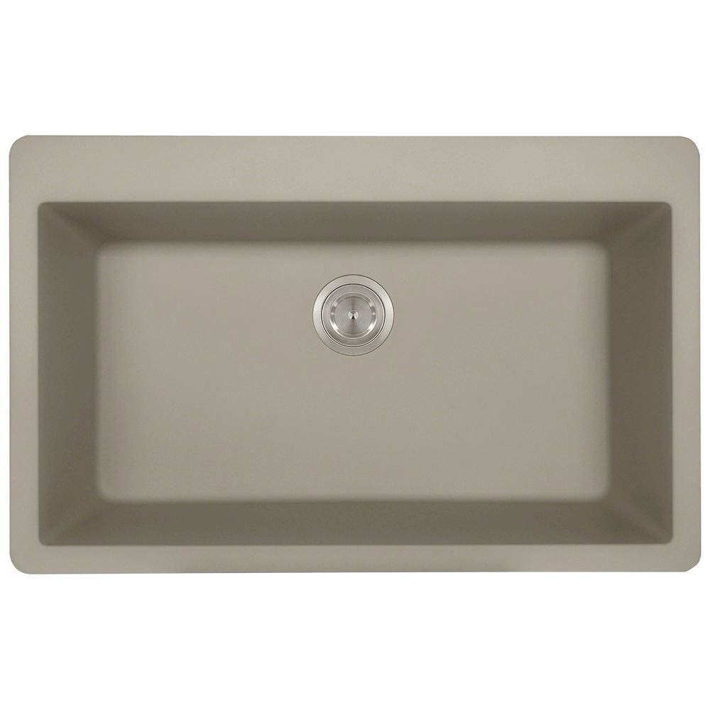 Kitchen Sink Polaris P848TST Large Single Bowl Topmount