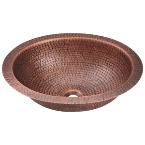 Bathroom Sink Polaris P909 Single Bowl Oval Copper 99.9%