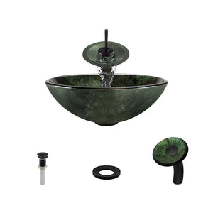 Bathroom Sink Polaris P926-ABR Waterfall Faucet Ensemble