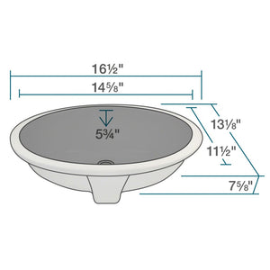 Bathroom Sink Polaris PUPSBL Porcelain Vitreous China Triple