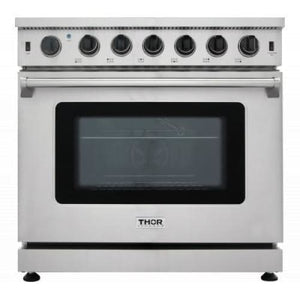 Range Thor Kitchen LRG3601U 36 in. Professional Stainless