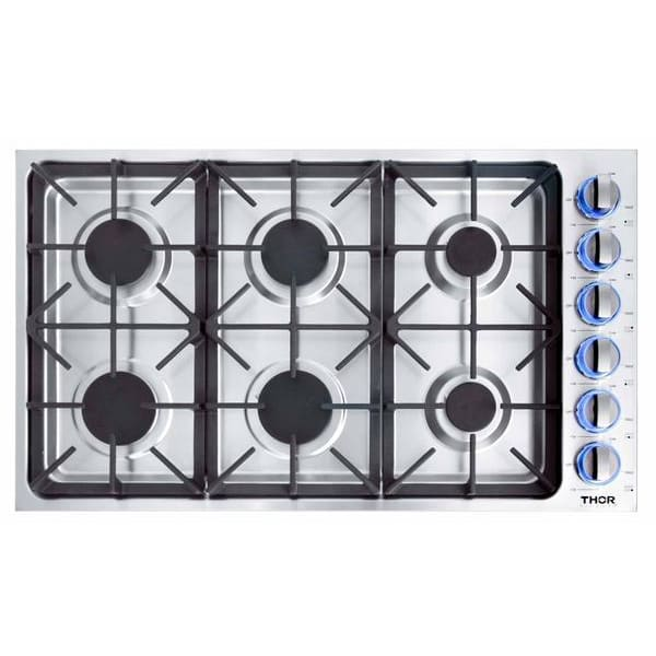 Cooktop Thor Kitchen TGC3601 36-Inch Professional Drop-In