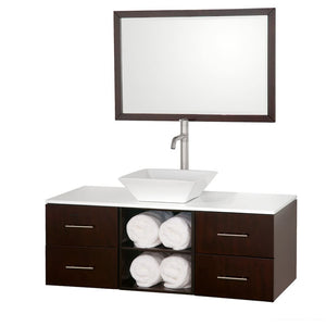 Vanity Set Wyndham WCSB90048ESWHD28WH Abba 48 Inch Single