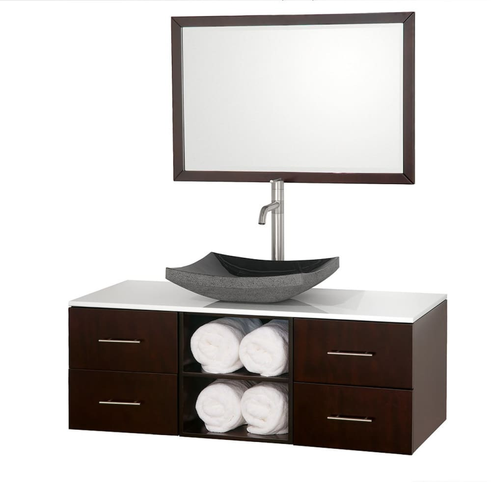 Vanity Set Wyndham WCSB90048ESWHGS1 Abba 48 Inch Single