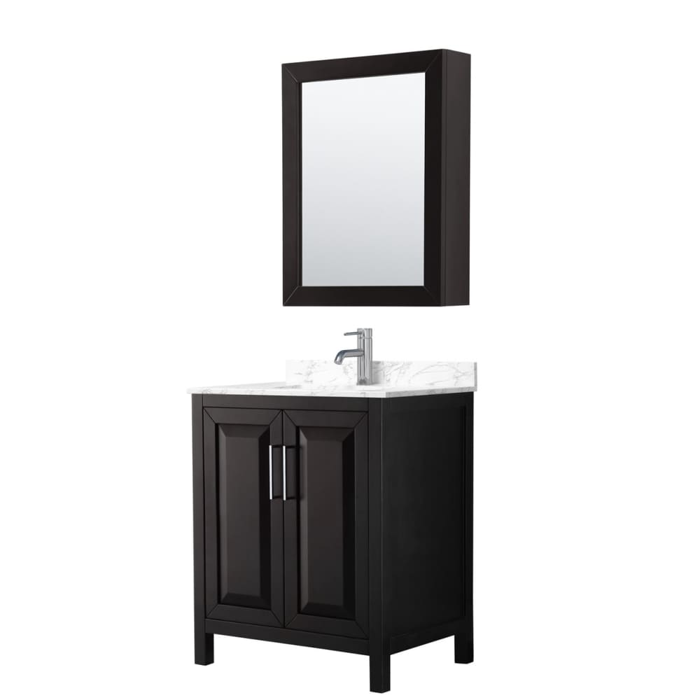 Vanity Set Wyndham WCV252530SDEC1UNSMED Daria 30 Inch Single