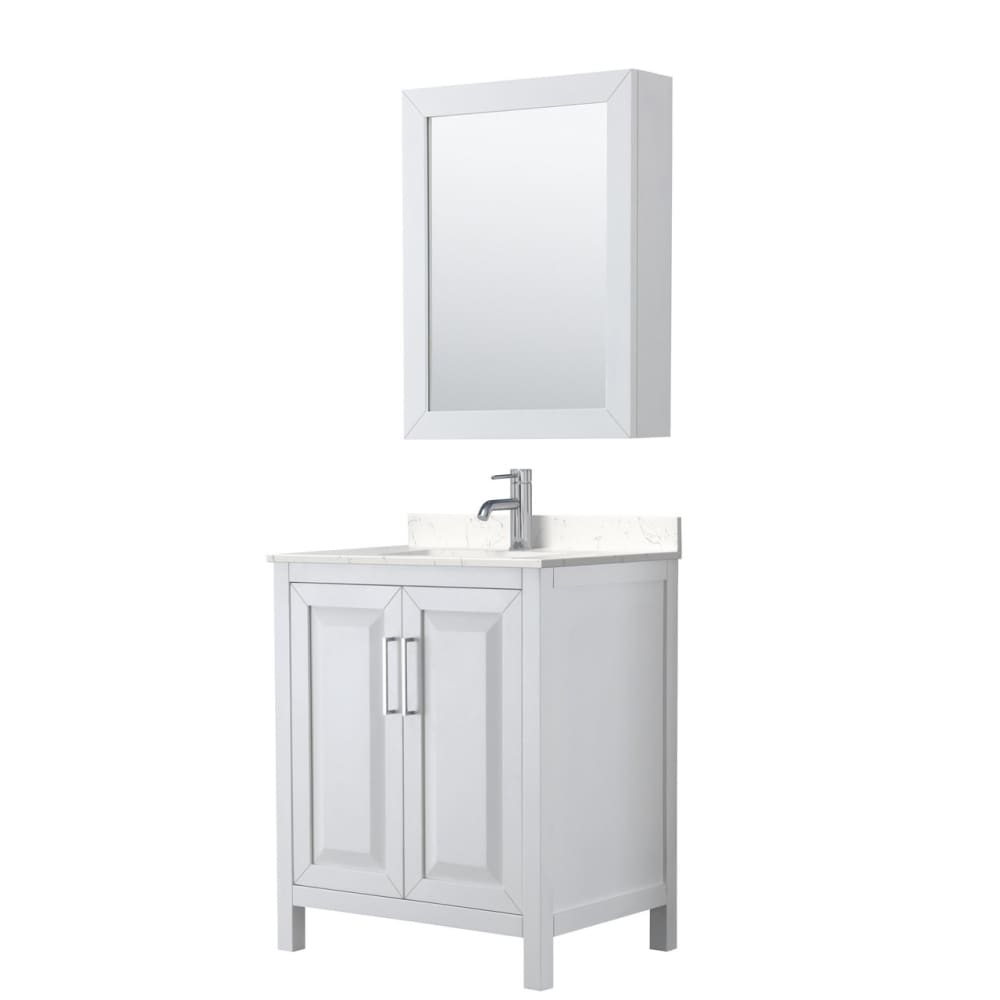 Vanity Set Wyndham WCV252530SWHC2UNSMED Daria 30 Inch Single