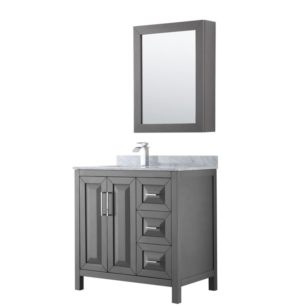 Vanity Set Wyndham WCV252536SKGCMUNSMED Daria 36 Inch Single