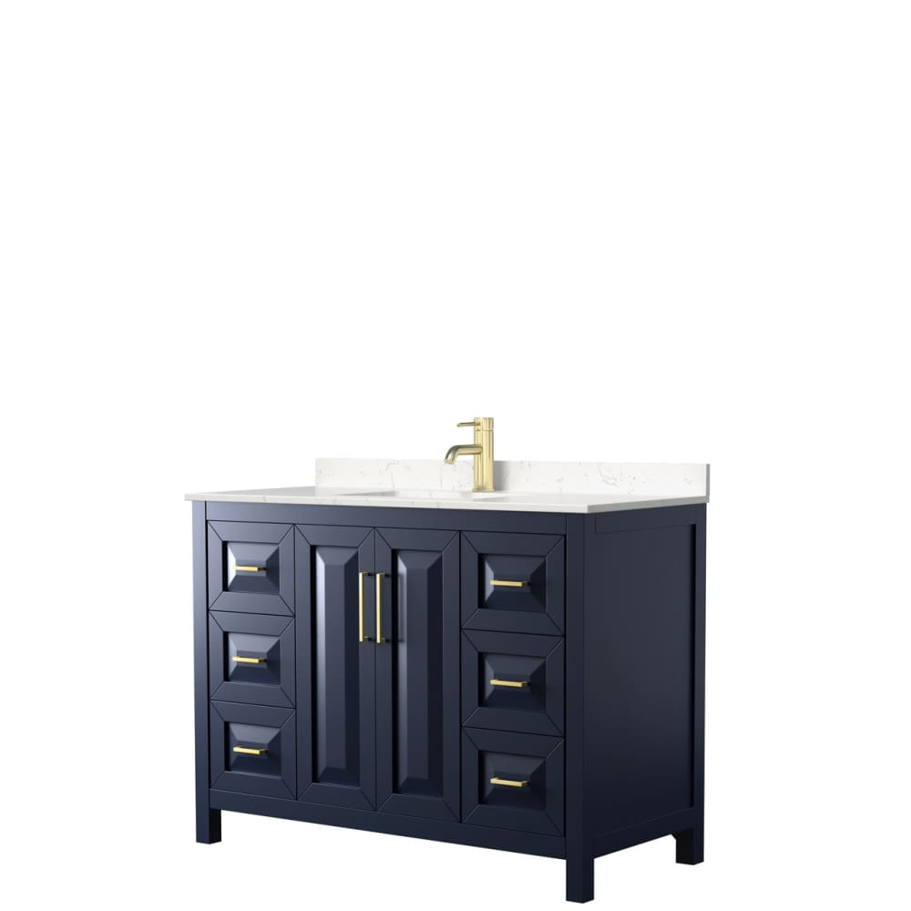 Vanity Set Wyndham WCV252548SBLC2UNSMXX Daria 48 Inch Single