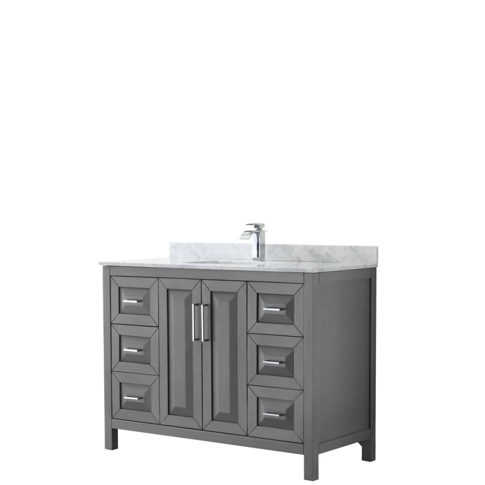 Vanity Set Wyndham WCV252548SKGCMUNSMXX Daria 48 Inch Single