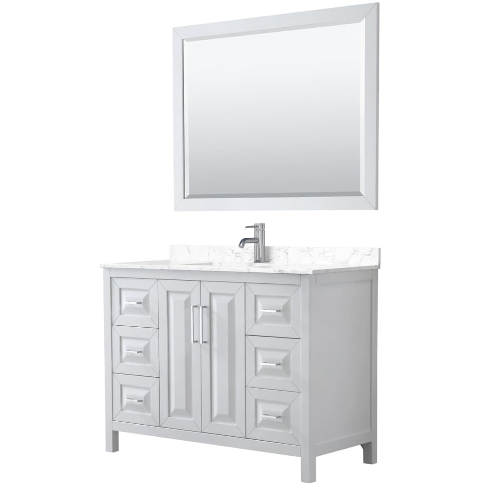 Vanity Set Wyndham WCV252548SWHC1UNSM46 Daria 48 Inch Single