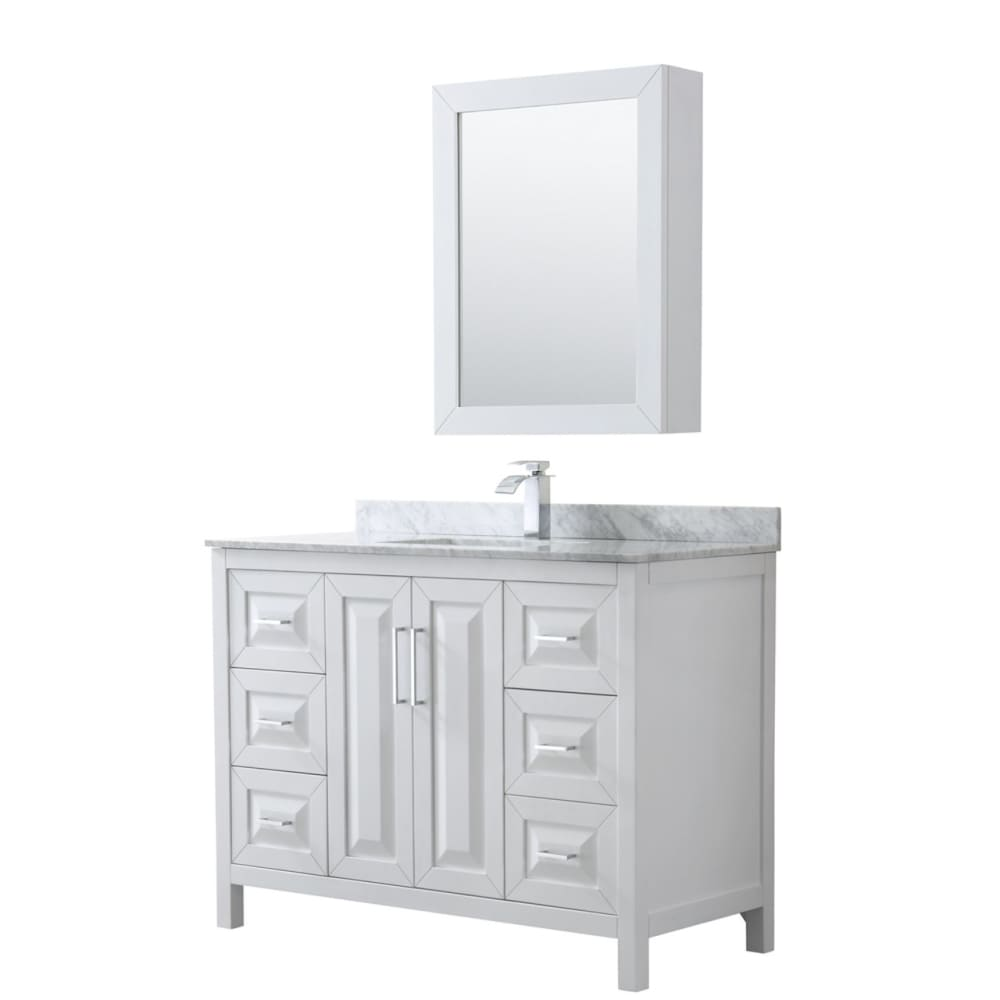 Vanity Set Wyndham WCV252548SWHCMUNSMED Daria 48 Inch Single