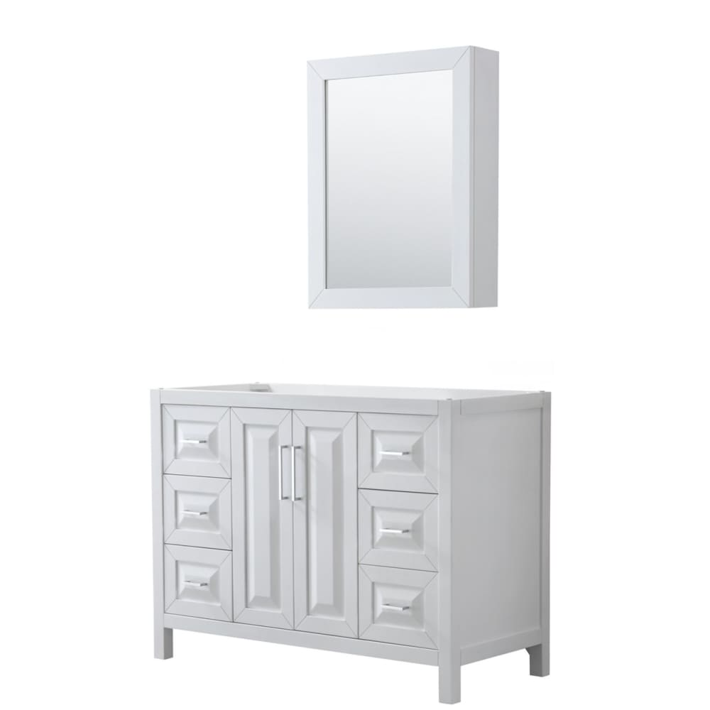 Vanity Cabinet Wyndham WCV252548SWHCXSXXMED Daria 48 Inch