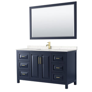Vanity Set Wyndham WCV252560SBLC2UNSM58 Daria 60 Inch Single