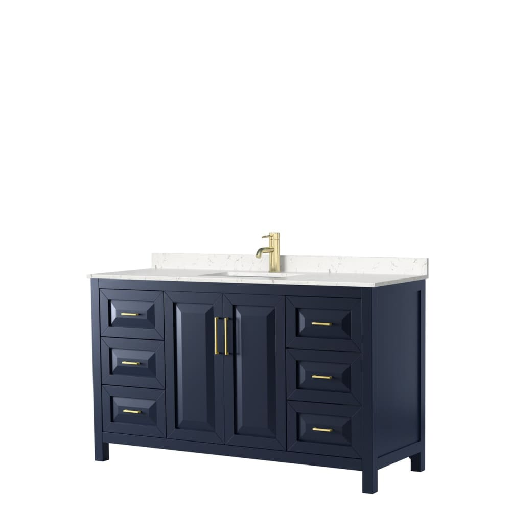 Vanity Set Wyndham WCV252560SBLC2UNSMXX Daria 60 Inch Single