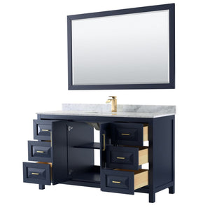 Vanity Set Wyndham WCV252560SBLCMUNSM58 Daria 60 Inch Single