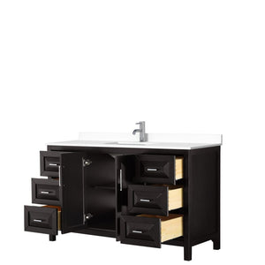 Vanity Set Wyndham WCV252560SDEWCUNSMXX Daria 60 Inch Single