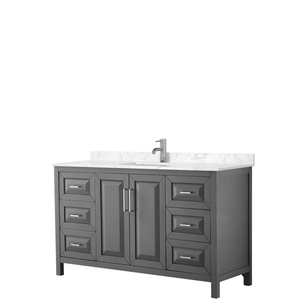 Vanity Set Wyndham WCV252560SKGC1UNSMXX Daria 60 Inch Single